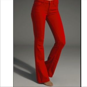 Jbrand red bell bottom jeans - size 26